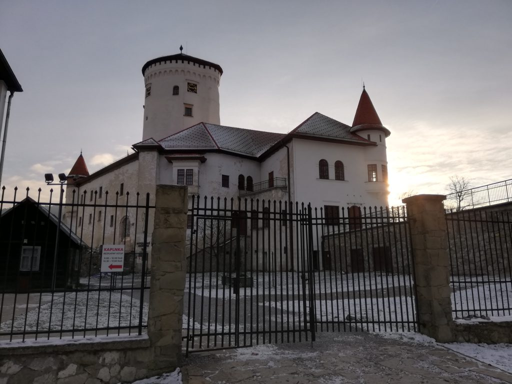 Budatínsky hrad (castle Budatín), situated at the river Váh