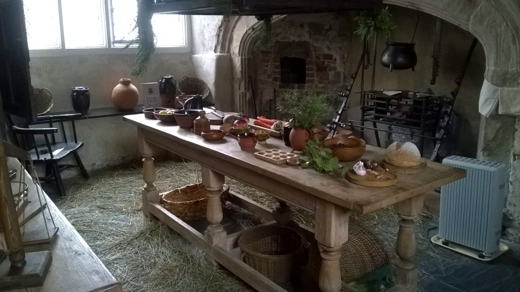 Aberconwy House in Conwy, ancient kitchen