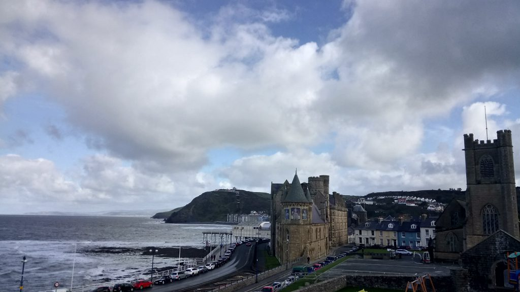 Aberystwyth, view from the castle hill