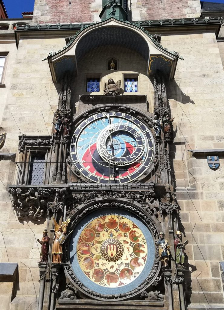 Astronomical clock in Prague, September 2019