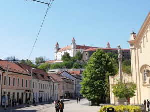 Bratislavský hrad, view from Kapucínska street