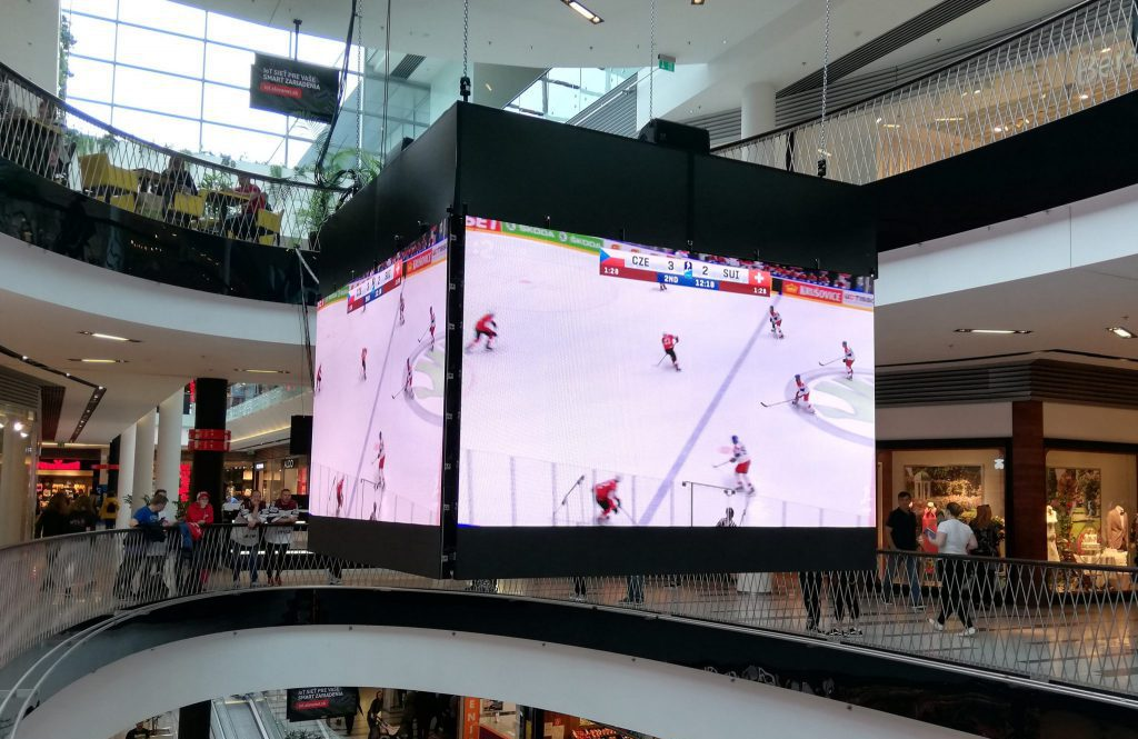 Central Mall during the Ice Hockey World Championship