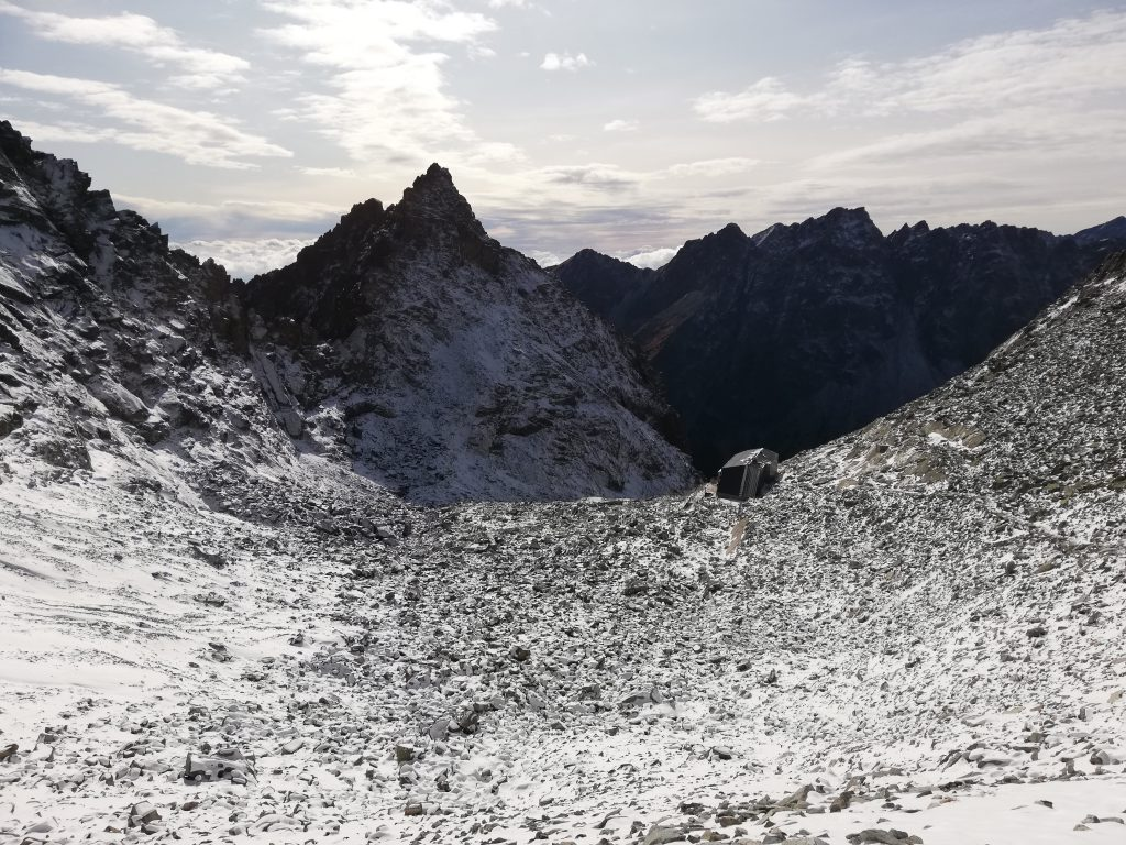 "Chata pod Rysmi (""Cottage below Rysy""), 2250 meters"