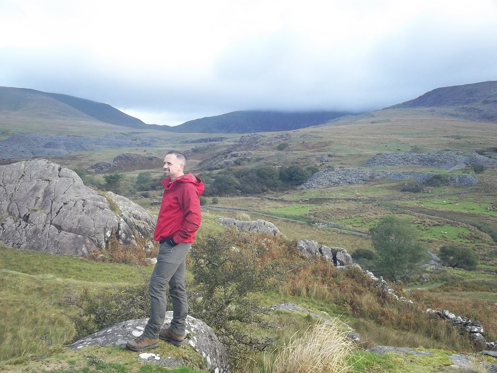 The author in Snowdonia on the Rhyd Ddu Path