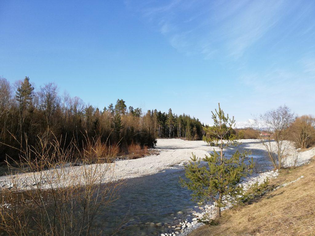 River Belá in Liptovský Hrádok
