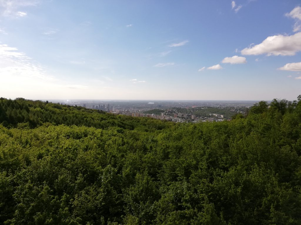 View from Turistická rozhľadňa near Kamzík onto Bratislava
