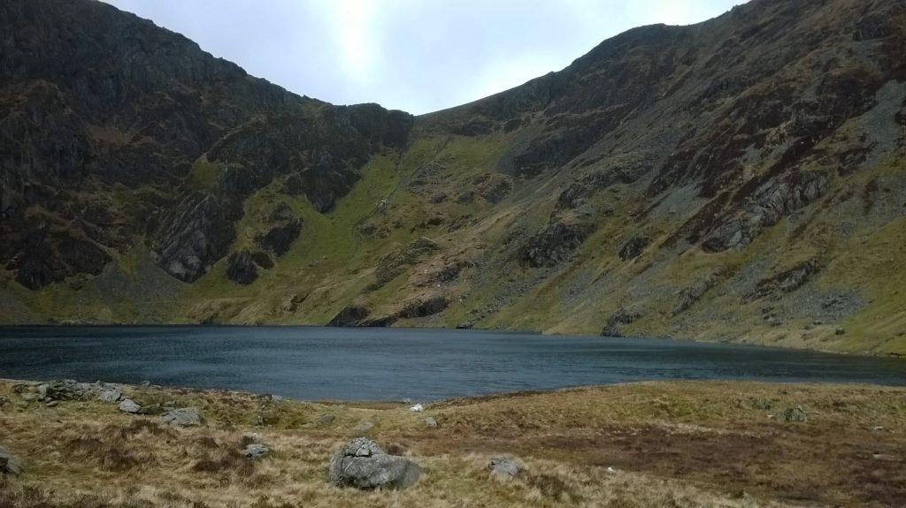 The mountain lake Llyn Cau