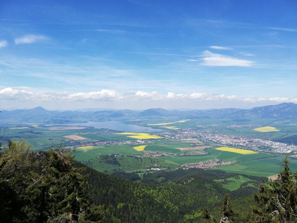 View from Poludnica onto the Liptovská Mara and Liptovský Mikuláš