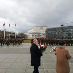 Piłsudski Square during a parade