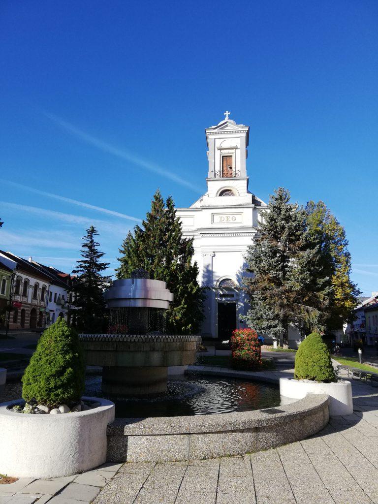 Poprad, church (Kostol svätého Egídia) in the town center