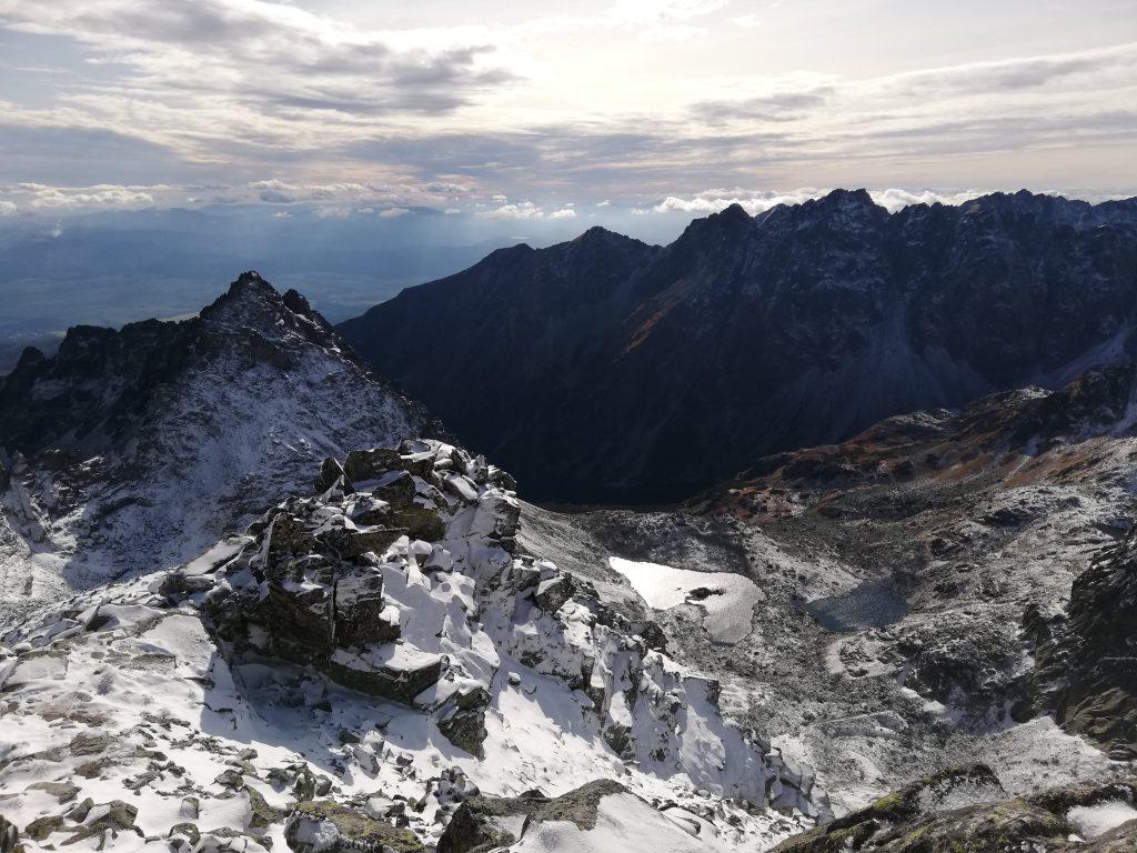 Rysy, near the peaks (on around 2300 meters, view to Slovakia, Žabie plesá)