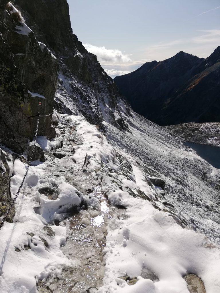 Hiking trail to Rysy, close to Chata pod Rysmi