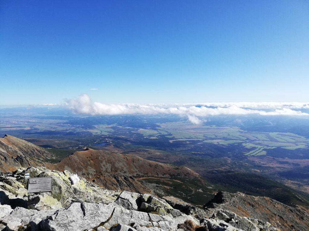 Kriváň (summit), view onto the Low Tatras