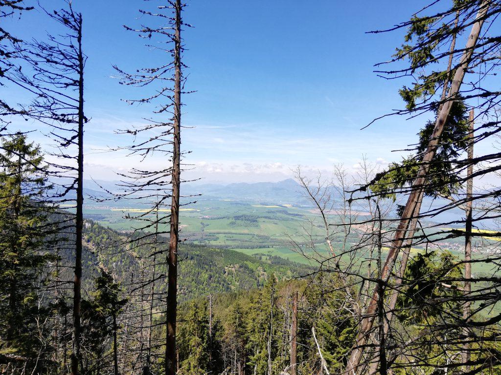 Path to Poludnica, view onto the Liptovská Mara