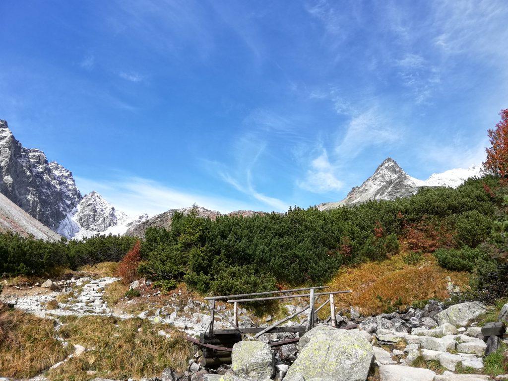 Hiking trail to Rysy, on around 1700 meters