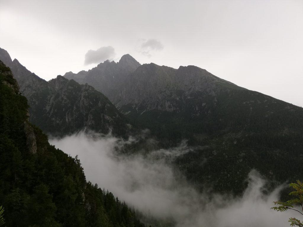 Slavkovská vyhliadka view point (1550 meters), view to Lomnický štít (2634 meters)