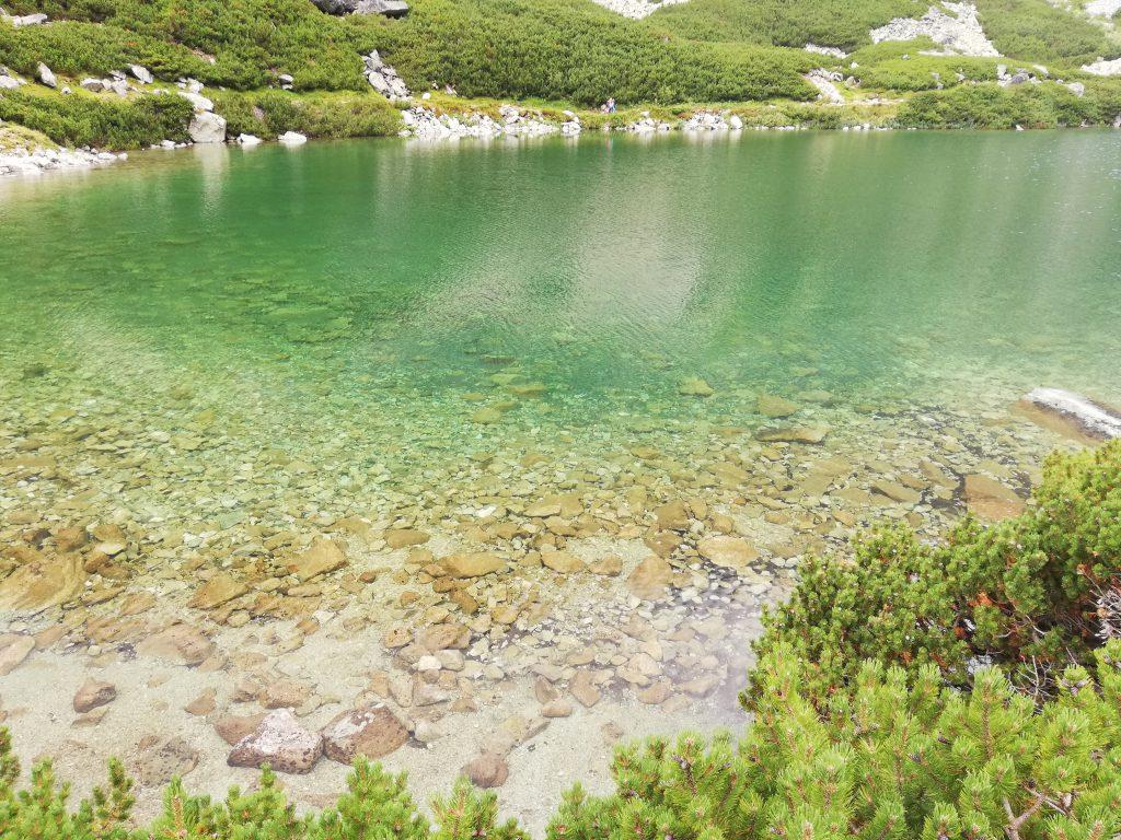 Velické pleso (mountain lake) next to Sliezsky Dom Hotel