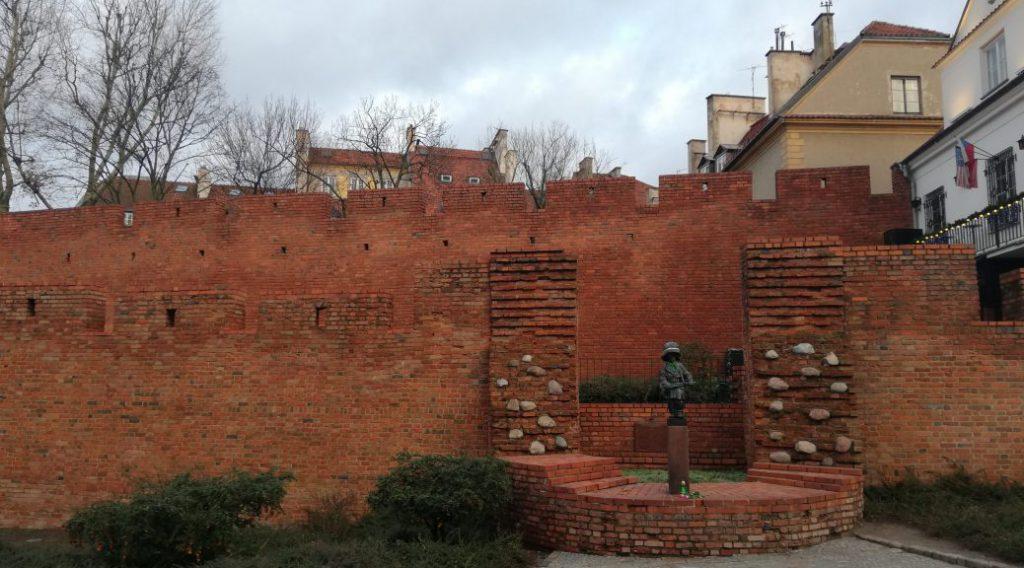 Mały Powstaniec near the Old Town (Warsaw)