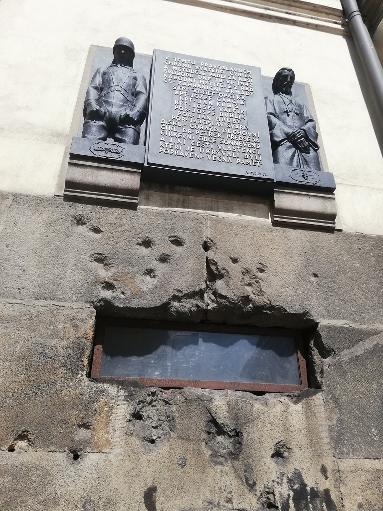 Saints Cyril and Methodius Cathedral, traces of the fierce gun battle on June 18, 1942