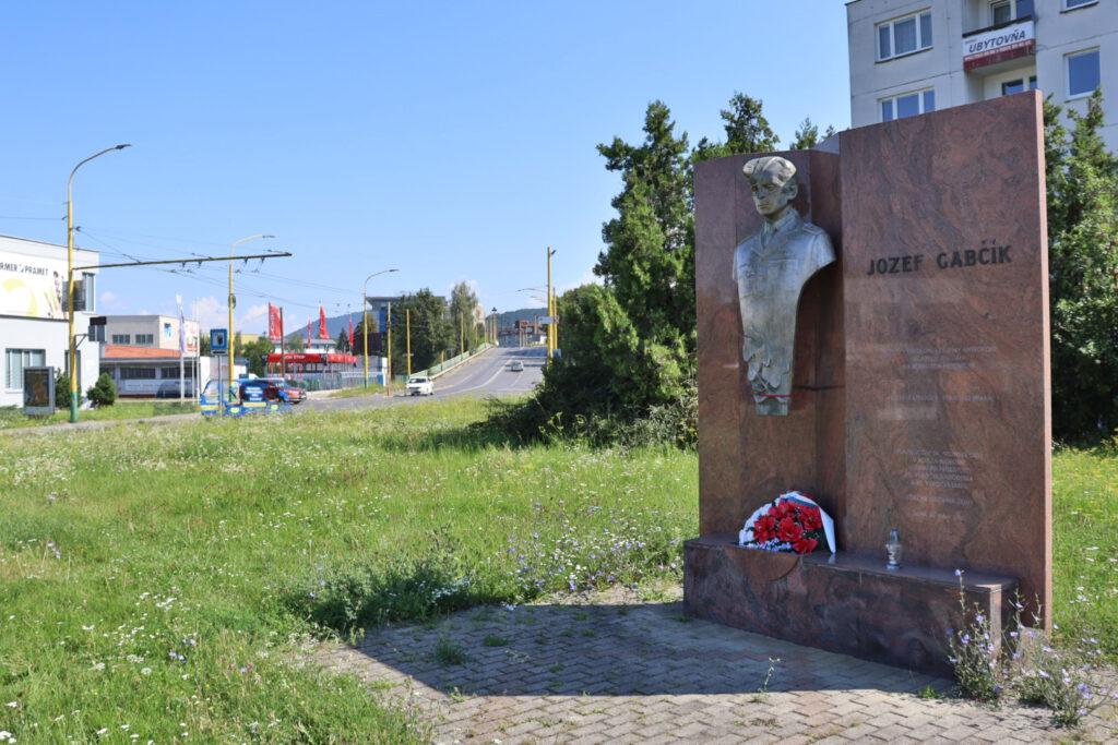 Jozef Gabčík monument in Žilina (Závodská cesta)