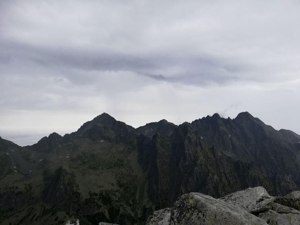 Slavkovský štít, peak (view towards Gerlachovský štít)