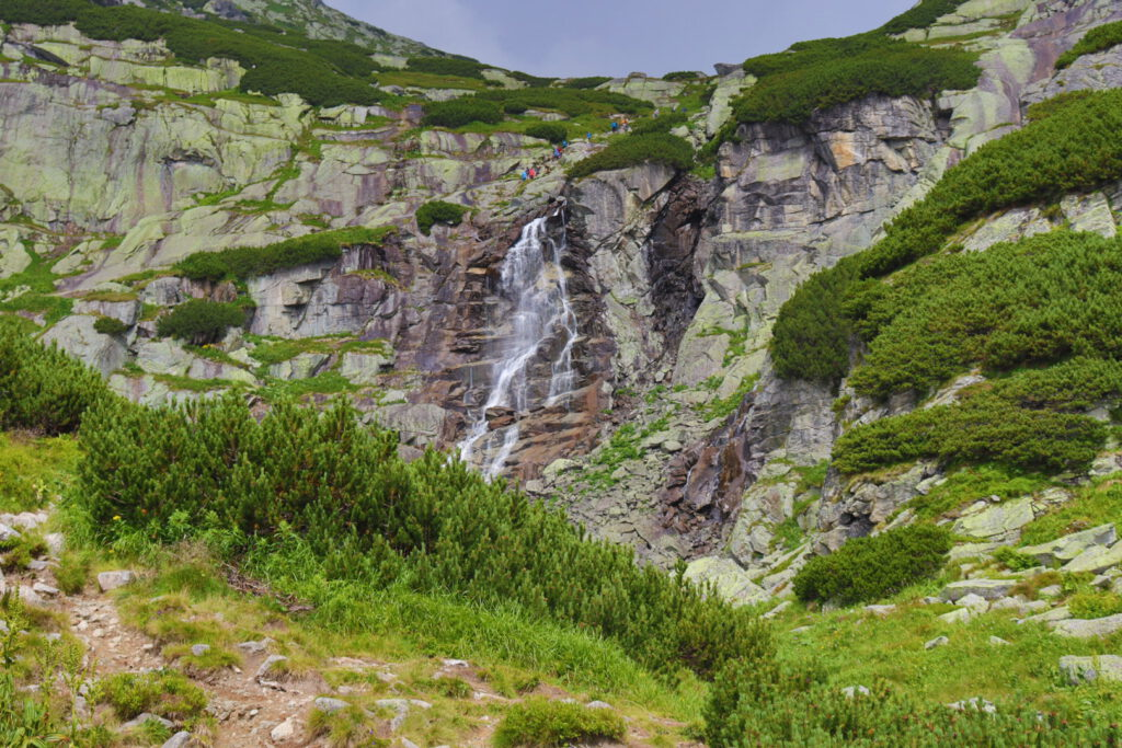 The huge Vodopád Skok cascade
