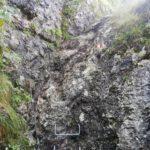 Ascent to Monte Calisio, via ferrata