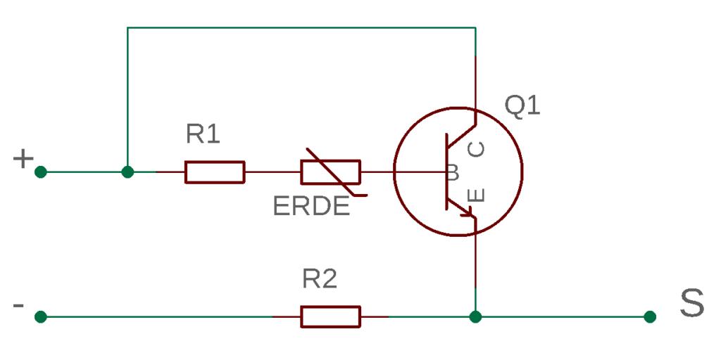Bodenfeuchte-Sensor: Schaltplan (schematisch)