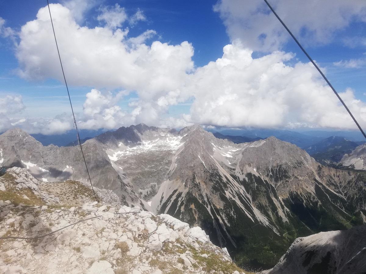 Pleisenspitze (2569 meters), view nort-eastwards