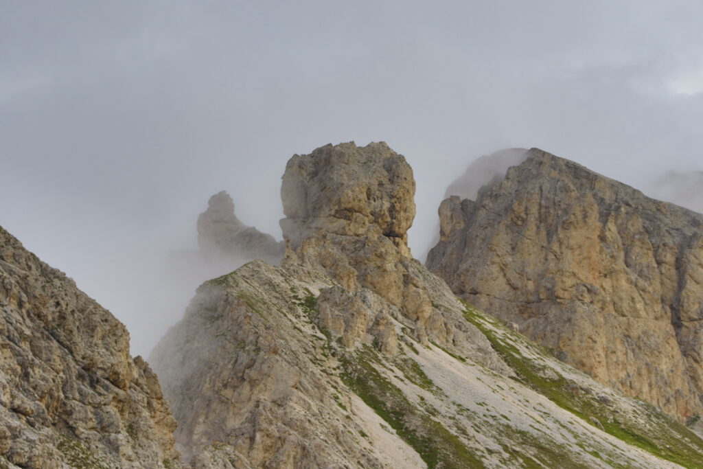 Aferer Geisler (Odle di Eores), approaching Tullen from the west